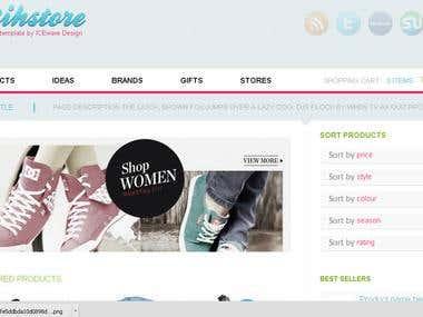 Website 1  (html/css/jquery)