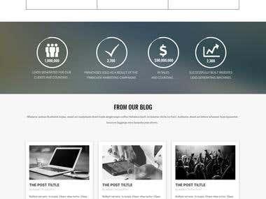 Sales & Marketting  Website Design