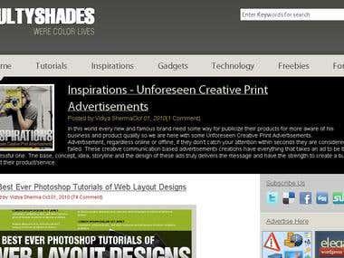 Website 2  (html/css/jquery)