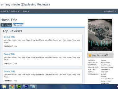 Movie Review Website.