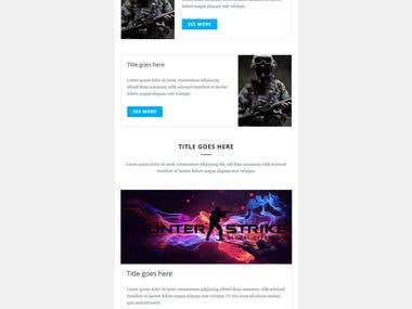 EDITABLE MAILCHIMP EMAIL TEMPLATE...