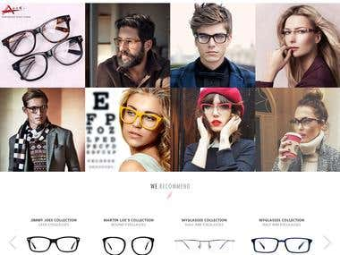 Design proposal for a Online Lens Selling Company