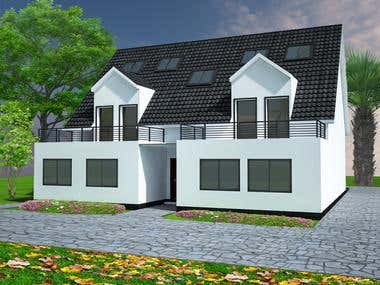 Exterior Design and Render For Germany client