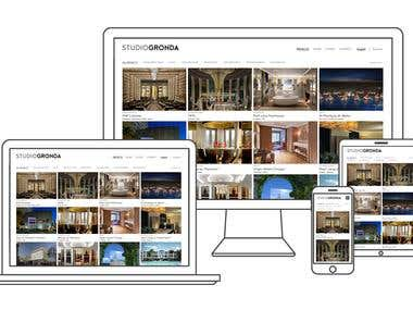 Responsive WordPress layout for Architecture firm
