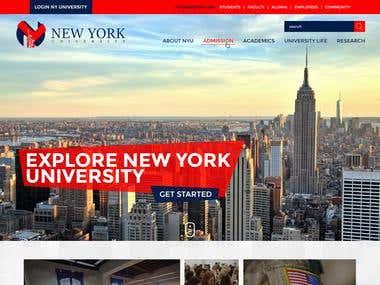University website design