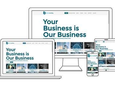 Mobile responsive consulting website in Drupal