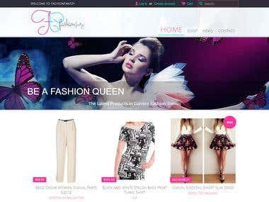 Shopify fashion site eCommerce design & development