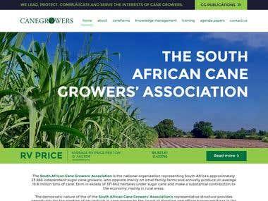 WordPress Website Design for Agricultural Association