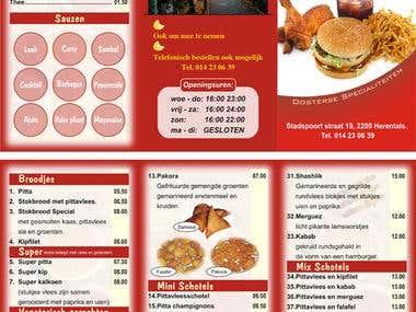 PP, Restaurant Menu Brochure