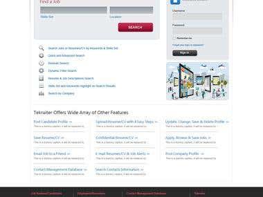 TK, Job Portal Design, Web UI/UX Design, Development