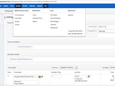 CRM for Tour Management