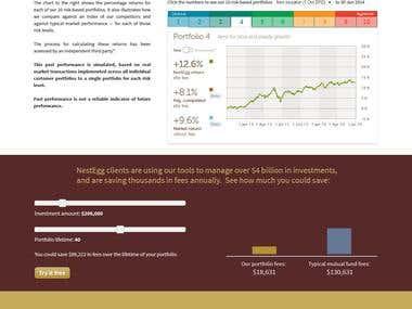 NE, Web App Design, Investment Portfolio System