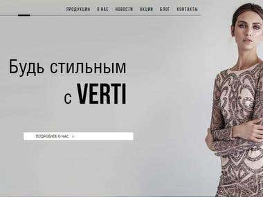 Professional markup of the website