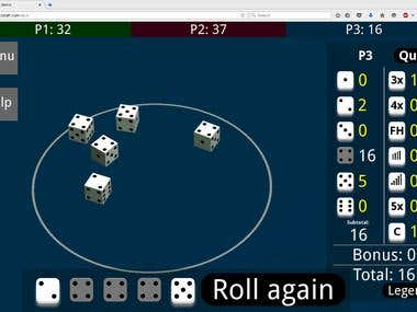 Dice game: 3d physics engine from scratch browser app