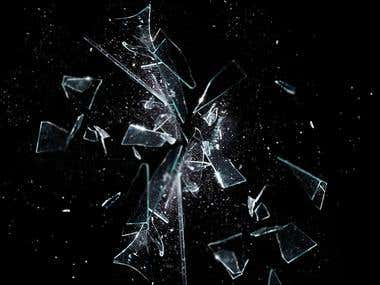 smashed glass effect