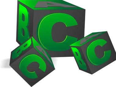 3D symbol logo