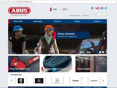 ABUS Mobile Security - CakePHP Website