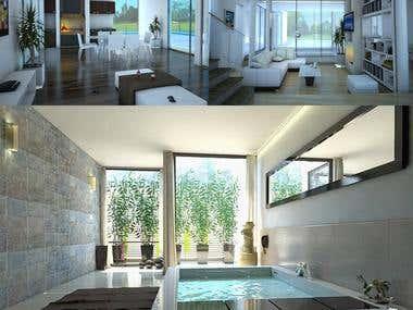 HOUSES 3D RENDER
