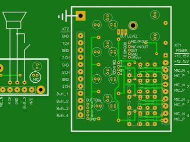 PCB-design. GSM-intercom.