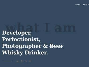 Personal CV webpage