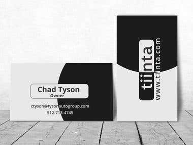 Clean & Unique Business Card Design