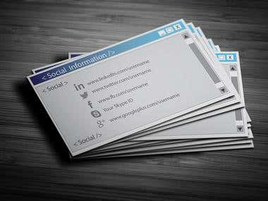 Web Designer's Business Card Design