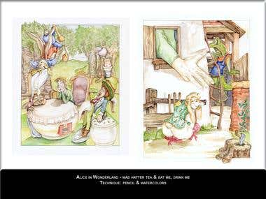 Alice in Wonderland Illustrations