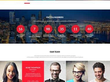 WordPress One Page Theme Implementation