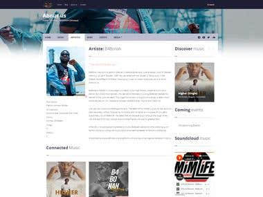 Mim Life Records Website + Custom CMS