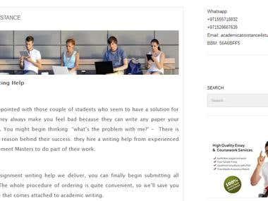Academic Assistance Website