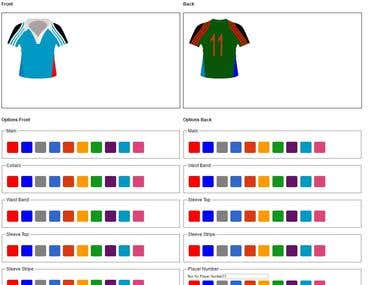 SVG Jersey configuration for customisation