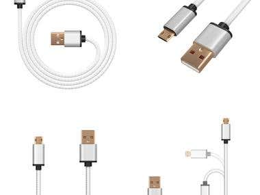 USB Cables Renderings
