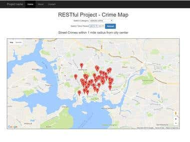 Google Map API used with RESTful data source for markers