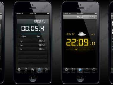 iPhone Clock and Weather app