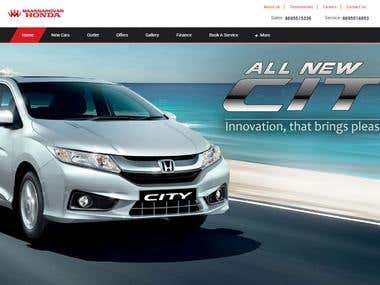 Honda Franchise Website