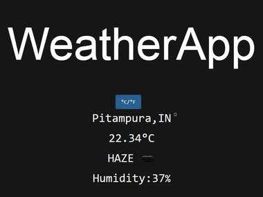 Weather Forecast Application