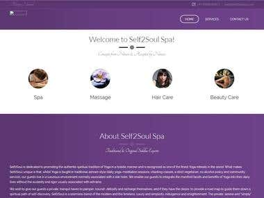 Self2Soul Spa Website