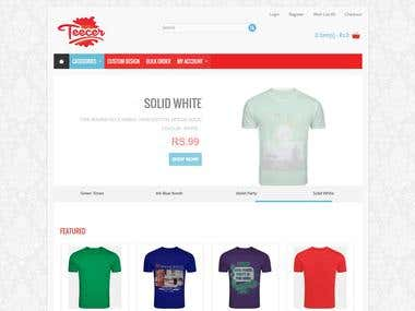 Teecer - Tshirt Ecommerce Website