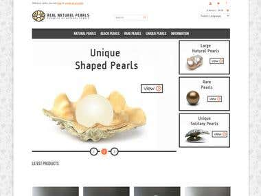 Real natural Pearls - Ecommerce Website