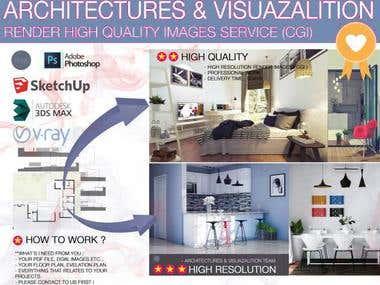 Do 3D floor Plan, Architectural Interior Realistic render
