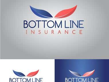 Bottom Line Insurance Logo Design