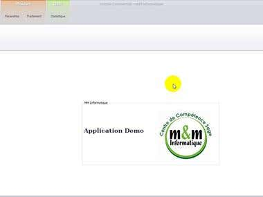 M&M Informatique: Commercial Management Application