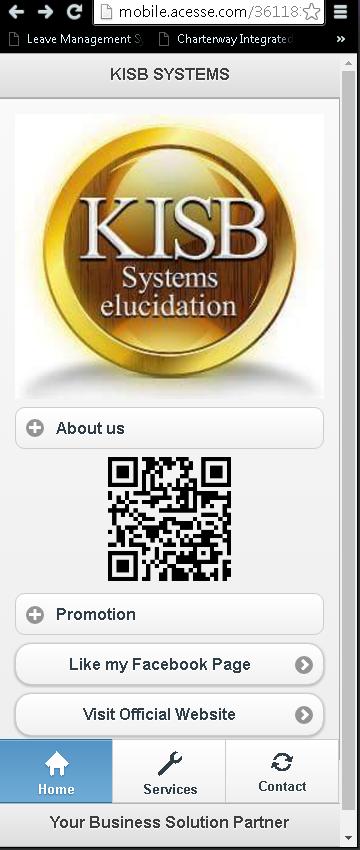 Mobile Website for KISB Systems Elucidation