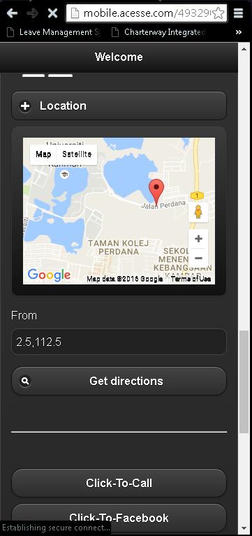 Mobile Website for Kampar Zone Gym