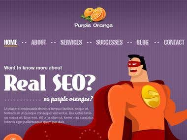Ui Website Design for SEO Services - 2012