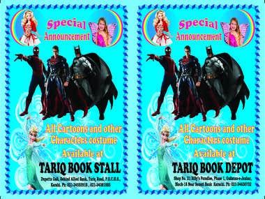 Cartoon Costume Advertisement Flyer