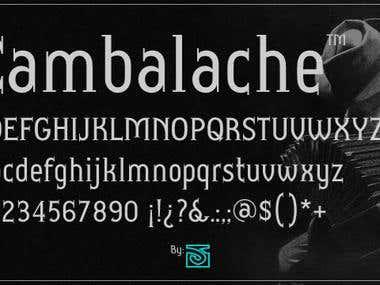 Cambalache font family