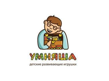 Logotype for a Russian online kids store