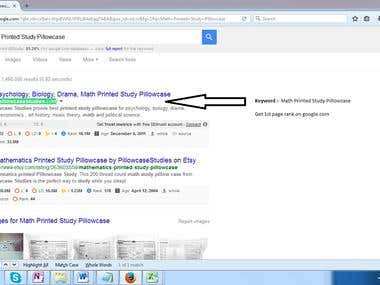 Get 1st page rank on Google.com