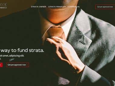 Website design mockup for an Australian investment company